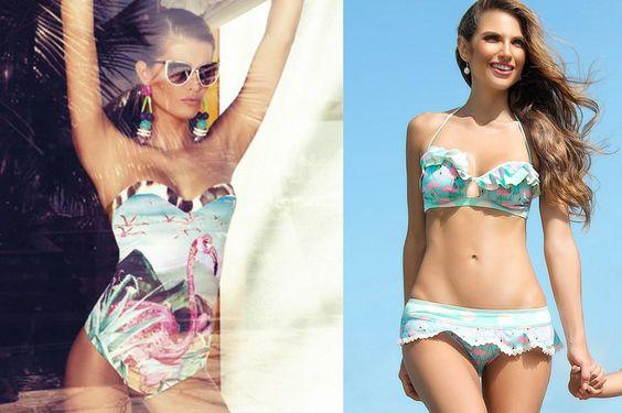 Flamingo Fever!  #flamingos #trends #fashion #modafeminina #moda #beachwear #beach #modapraia #biquini #flamingo