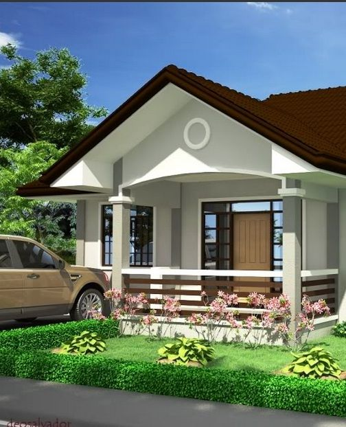 Picture Of Graceful One Story Country House Beautiful House Plans Philippines House Design Modern Bungalow House