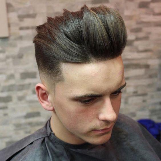 Low Skin Fade + Quiff , men haircuts fade