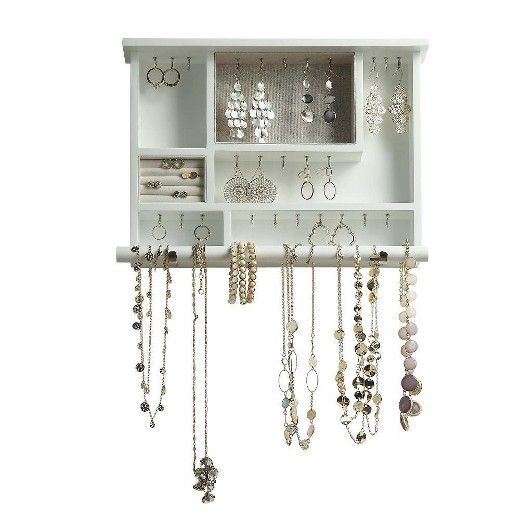Showcase All Of Your Favorite Jewelry With This Multi Functional Wall Mounted Jewelry Organizer By Reciclaje Muebles Decoracion De Unas Ideas De Unas Acrilicas