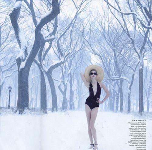 Karlie Kloss Snow