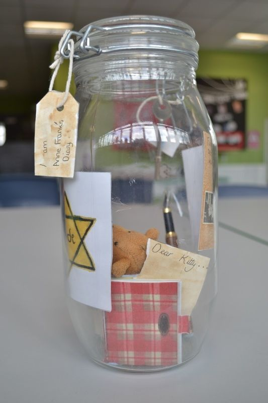 Diary Of Anne Frank Book In A Jar Fun Homeschool Anne Frank Diary Library Activities