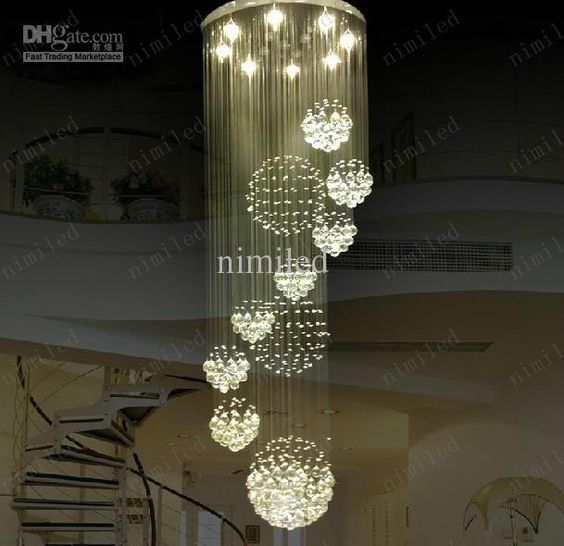 Nimi115 Dia 80cm   100cm   120cm LED-Kristalllicht-gewundenes
