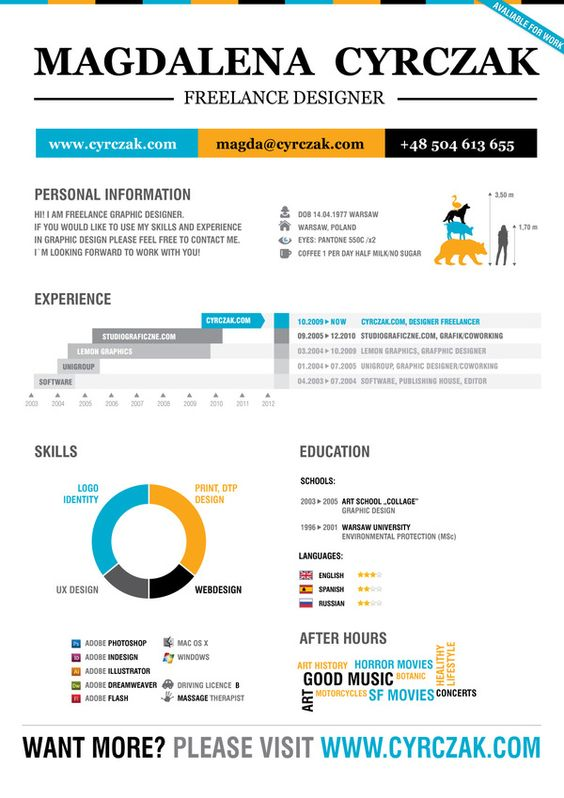 my resume by Magdalena Cyrczak, via Behance Geeku0027d Resumes - resume massage therapist