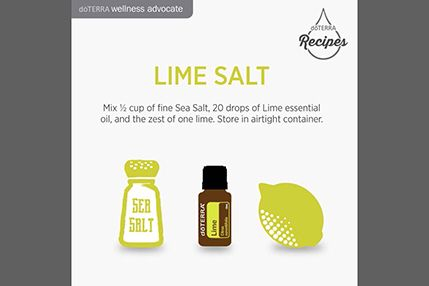 Essential oil lime salt