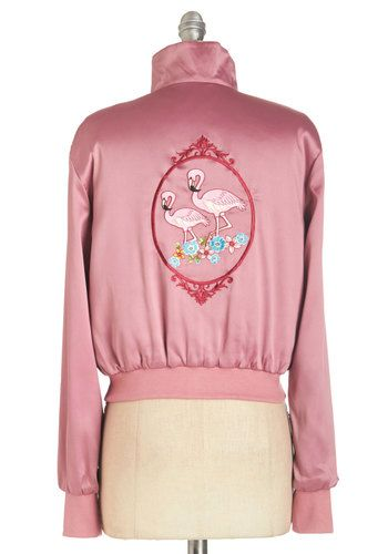 (vu) Mix and Flamingo Jacket | Mod Retro Vintage Jackets | ModCloth.com