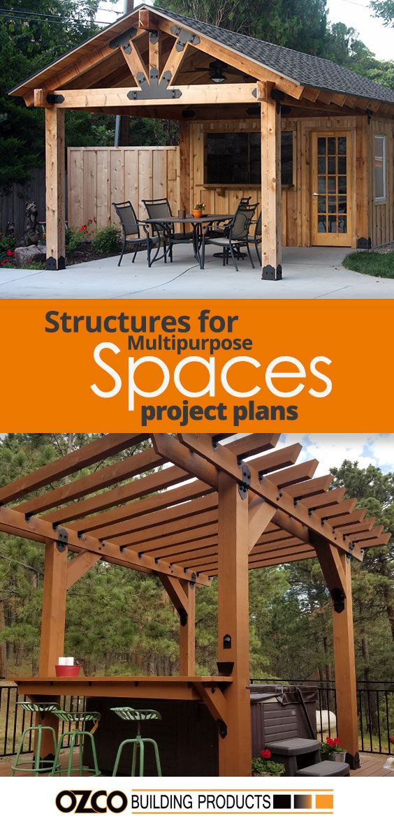 Every Backyard Or Gathering Space Can Be Fully Utilized By Building A Multipurpose Structures Whether I Backyard Covered Patios Pergola Outdoor Decor Backyard