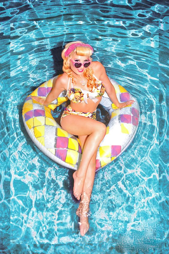 pinup at the pool.. My Own work.