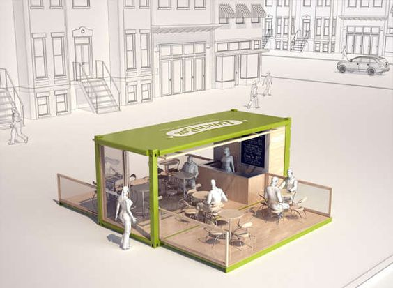 Container made eco abodes restaurant pop up bar and galleries - Ecopod container home ...