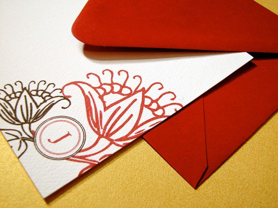 Beautiful La Fleur Rouge Personalized Notes, Great gift!