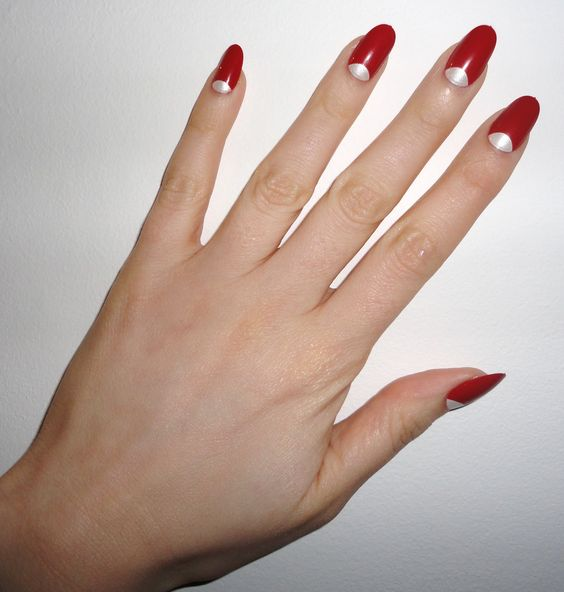 We love half moon nails because they are so classy! 60's fashions are coming back into style!