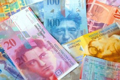 Billetes de francos suizos