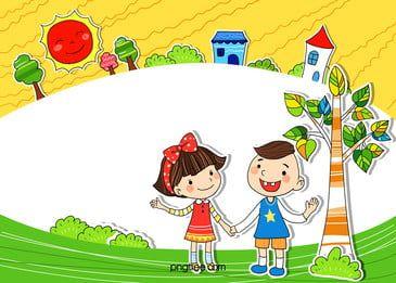 Kindergarten Children S Cartoon Childhood H5 Background Material Cartoon Background Cartoon Clip Art Graphic Design Background Templates