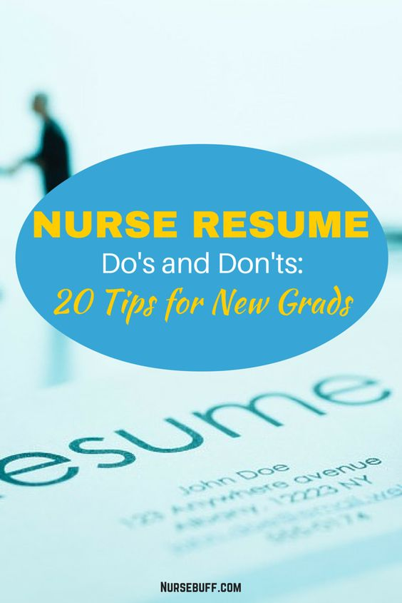 Nurse Resume Dou0027s and Donu0027ts 20 Tips for New Grads #Nursebuff - nurses resume