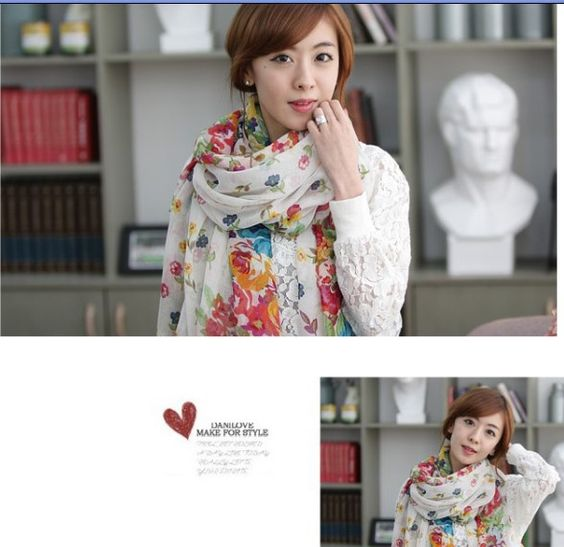 2013 Fashion scarves joker fields and gardens shivering scarves autumn and winter  free shipping $2.99