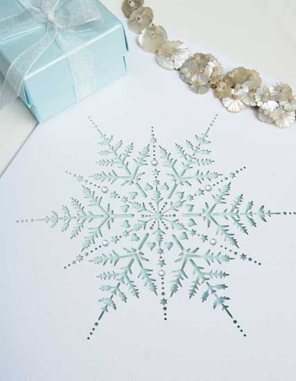 Hummingbird Cards laser cut snowflake wedding invitation, add a ...
