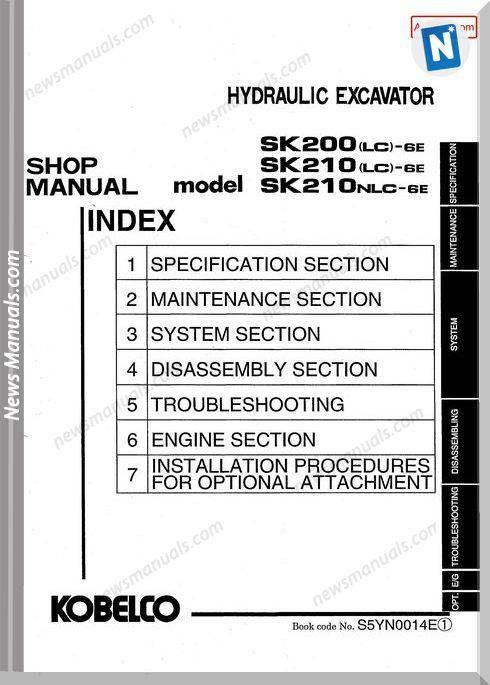 Kobelco Sk200 Lc 6E Sk210 Lc 6E Sk210Nlc 6E Hydraulic ... on hino wiring-diagram, elec wiring-diagram, trailer lights wiring-diagram, ingersoll rand wiring-diagram, genie wiring-diagram, volvo excavator wiring-diagram, jcb wiring-diagram, haulmark wiring-diagram,