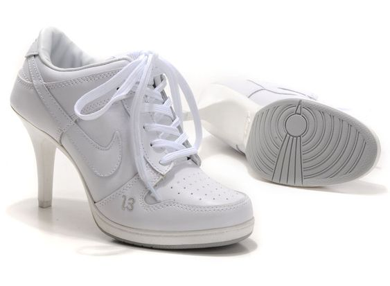 Buy Women Jordan High Heels Cheap Nike Dunk SB Stiletto All White