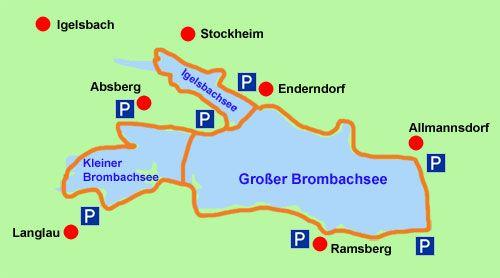 Radkarte Brombachsee Radwege Radweg Rad