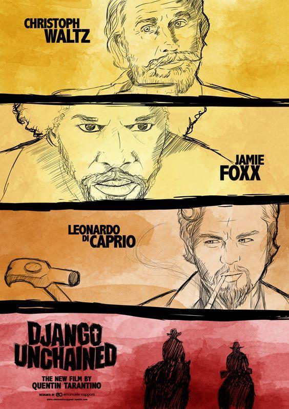 Django Unchained 2012 Django Unchained Alternative Movie Posters Movie Posters