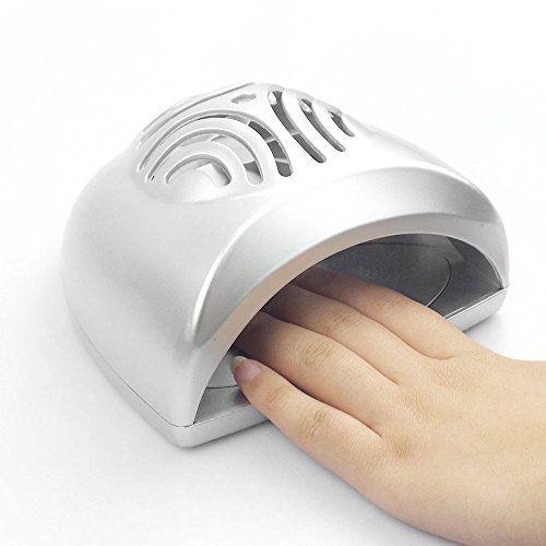 Continu® Portable Mini Sèche Ongles Petit Ventilateur pour Sécher plus vite Vernis à Ongles – Argent