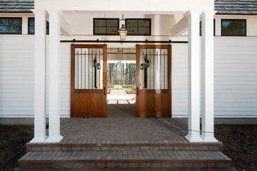 Sliding Barn Entry Doors on the Mount Pelia Garden Shed