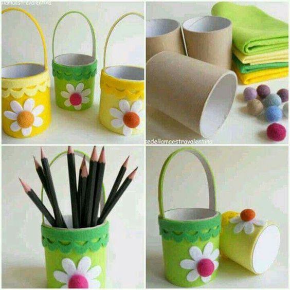 Image result for spring toilet paper pencil pot