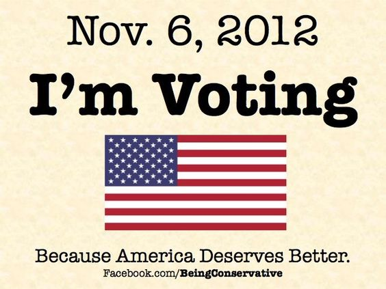 I'm voting because America deserves better.  I'm voting for Romney because Obama did not do what he said he would do, and a few other reasons too.