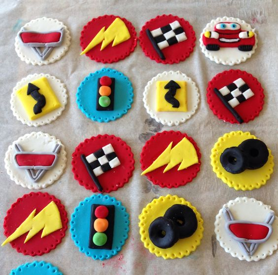 Cars Cupcake Toppers ️ Fondant Ideas ☝️ Pinterest