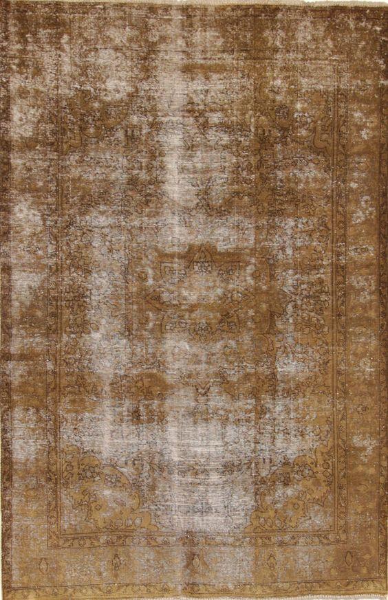 Vintage Handgeknüpfte alfombra  Patchwork Wunderschöner Perser Teppich 289 x 195