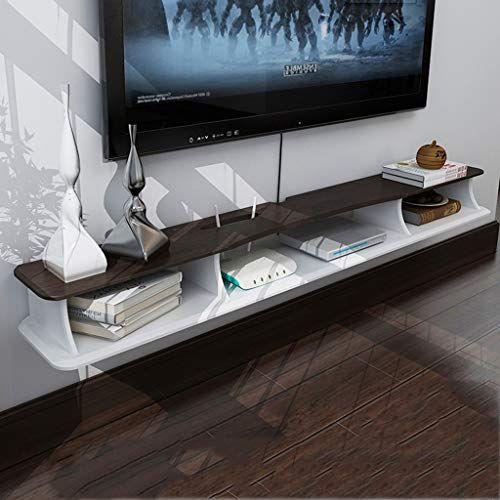 Lbymyb Wall Mounted Media Tv Console Floating Audio Video Tv Rack Cable Box Router Component She Floating Tv Shelf Wall Mounted Tv Cabinet Wall Mounted Cabinet