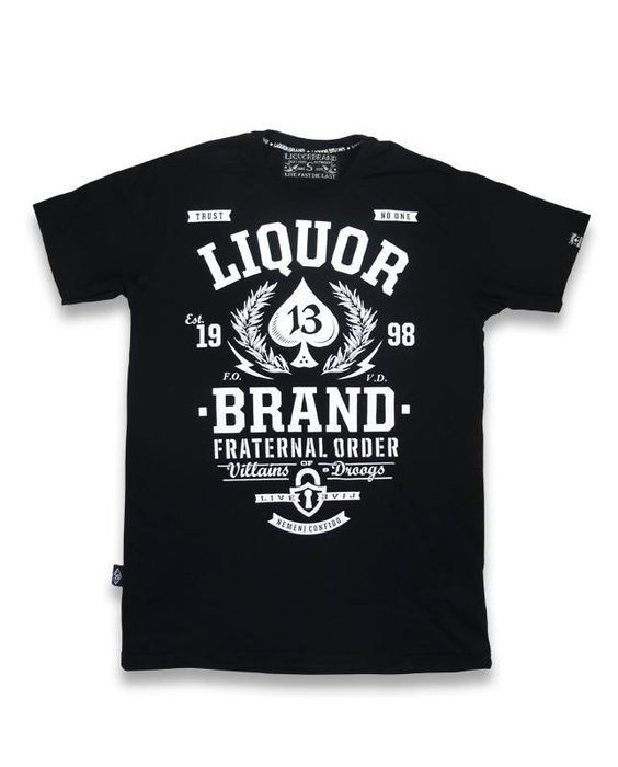 Liquor Brand Herren DROOGS T-Shirts.Tattoo,Biker,Oldschool,Custom Clothing Style