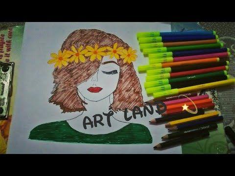 رسم بنت بشعر قصير سهل وسريع Short Hair Girl Drawing Youtube Girl Drawing Drawings Art