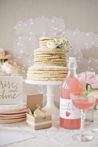 Sweet peach: Brunch Idea, Wedding Ideas, Party Idea, Wedding Cakes, Brunch Wedding, Pancake Wedding, Bridal Shower, Weddingcake