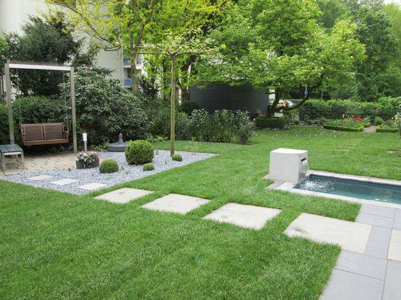 Wasserbecken mit Schaukel Gartengestaltung Pinterest Garten - terrassengestaltung mit wasserbecken