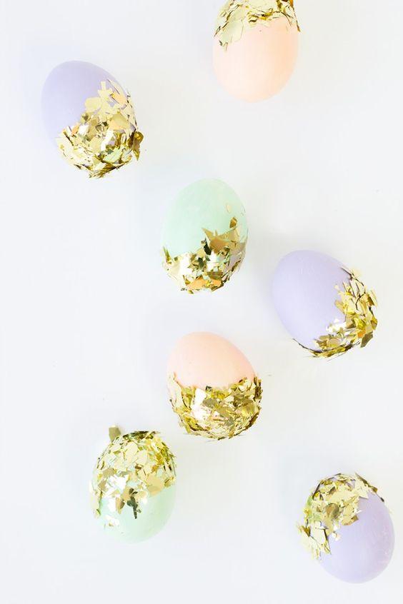 DIY Confetti Dipped Easter Eggs: