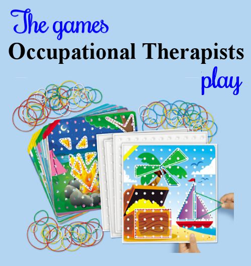 Work on visual perception and finger strength with this fun activity. To see more games that occupational therapists play, follow the link to The Playful Otter (OTR).: