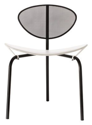 Chaise Nagasaki Réédition 1954 Blanc / Structure noire - Gubi - Mathieu Matégot