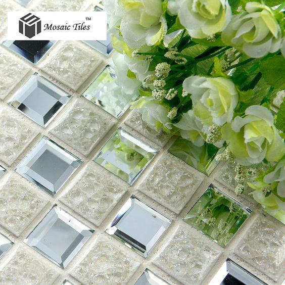 Cheap Tst crackle mosaico de azulejos de cerámica corte de diamante en 3D brillo…