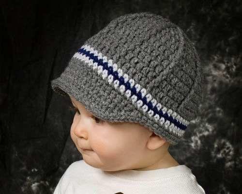 Gorros a crochet para bebes varones - Gorritos bebe ganchillo ...