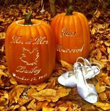 Fully Customizable Artificial Pumpkin For Fall Autumn Wedding Decor. Rustic