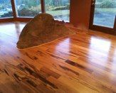 Tiger-wood floor we just installed in this lovely home renovation