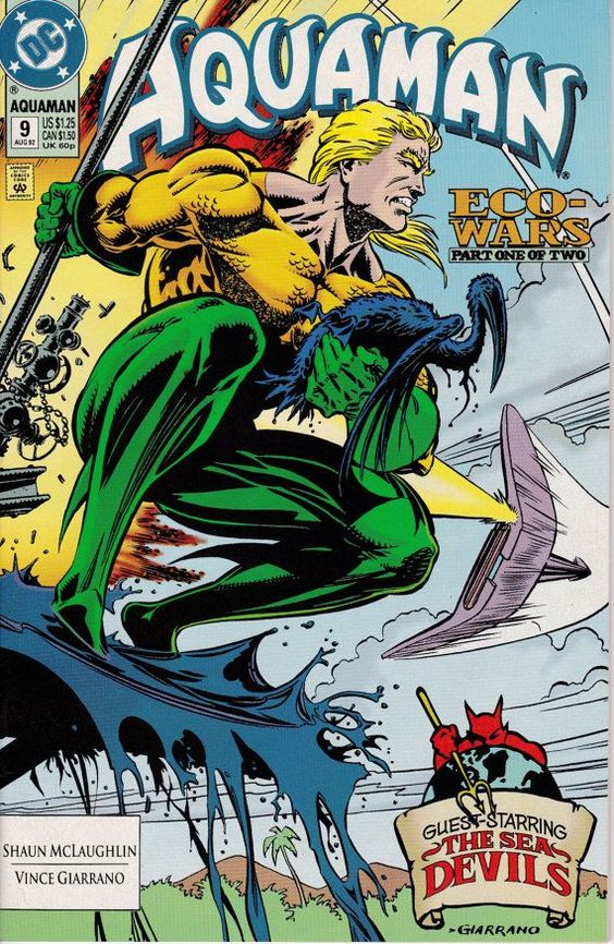 Aquaman 9  August 1992 issue  DC Comics  Grade NM by ViewObscura