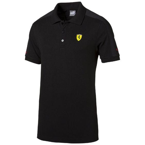 Polo puro algodão Puma, brasão Ferrari | La Redoute