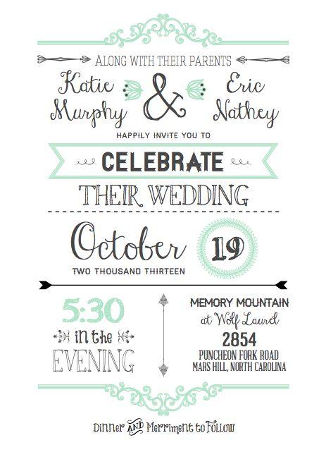 FREE Printable Wedding Invitation Template – Invitation Information Template