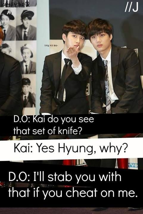 Hahaha Of course D.O. would Be The One to Do It #kaisoo #EXO