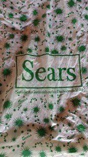 sears brasil, antiga loja,sacola plástica original, 1977 apr