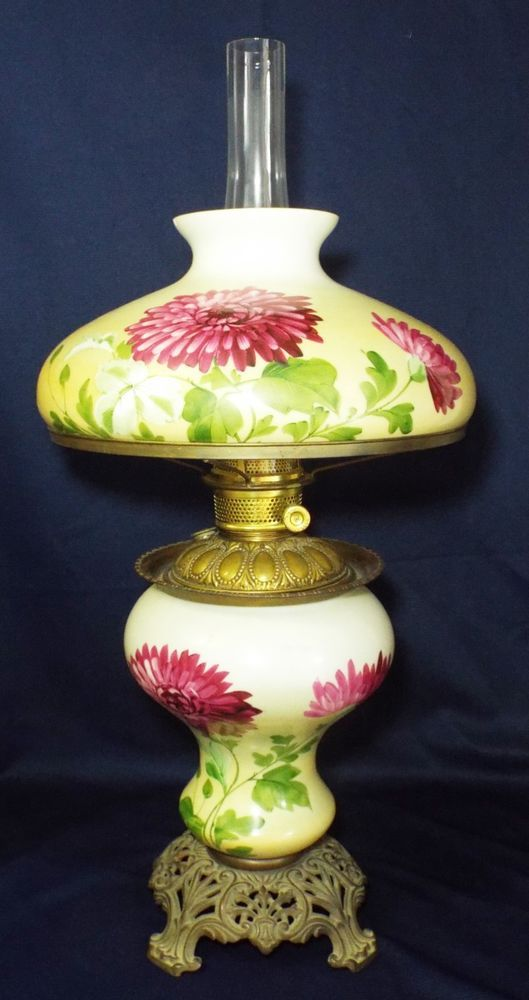 Large Antique Yellow Purple Floral Pittsburg Gone With The Wind