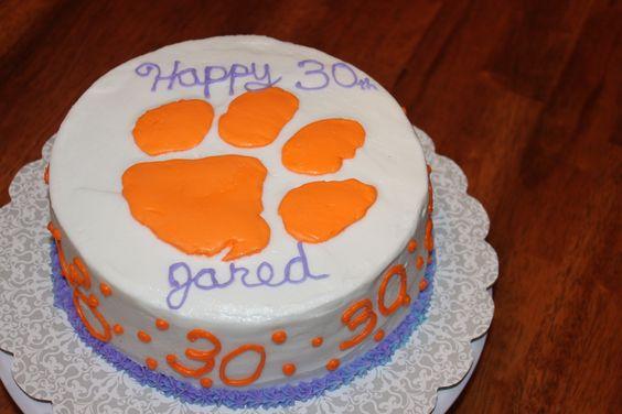 Clemson Tiger Paw Cake