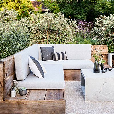 Protect privacy - Pay attention to backgrounds. Mullins put a planter in the backside of the bench and filled it with Pittosporum tenuifolium, both to be a soft shield for anyone who sits there—and to add silver sheen to the space. Sunset: